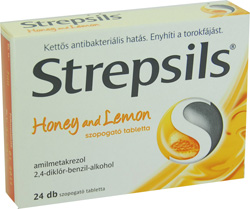STREPSILS HONEY AND LEMON SZOPOGATÓ TABLETTA
