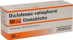 DICLOFENAC-RATIOPHARM 50 mg filmtabletta