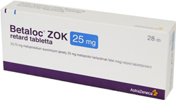 BETALOC ZOK 25 mg, 50 mg, 100 mg and 200 mg ASTRAZENECA  …